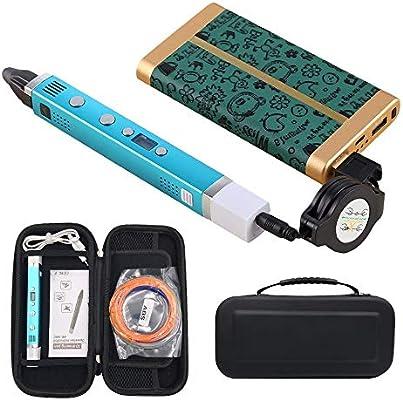 JFCUICAN Impresora 3D Pantalla LED 3D Pen USB Smart 3D Impresora ...