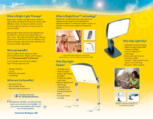 Carex Day Light Classic Bright Light Therapy Lamp 10000