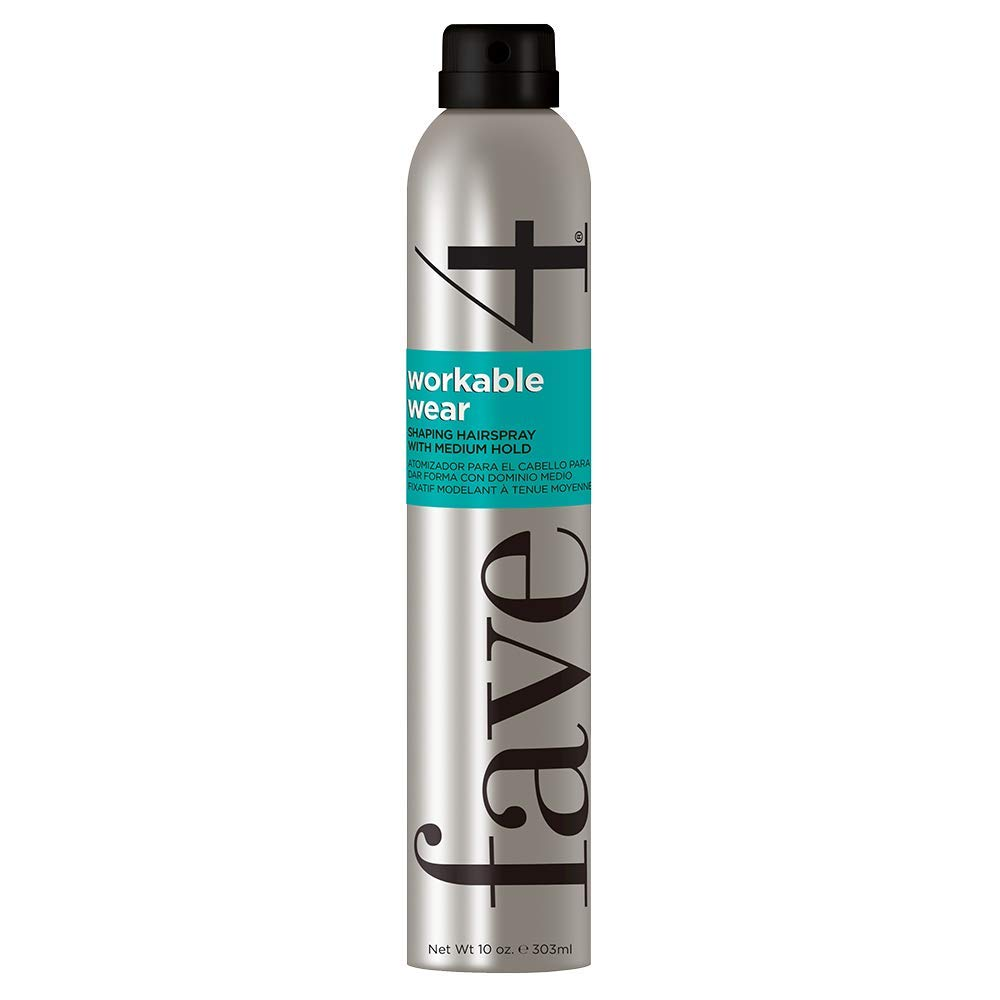 fave4 hair Workable Wear Hairspray, Shaping Spray with Medium Hold for Styling & Teasing, 10 oz