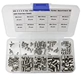 220 Pcs M3/4/5/6/8 Allen Head Socket Hex Grub Screw Set Assortment Kit-304 Stainless Steel