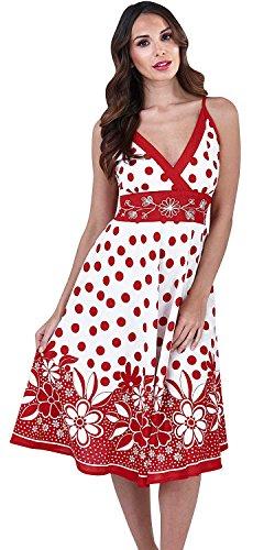 ou Robe rose Bain Imprim Sans Pois Soleil Coton Rouges Magnifique t Bretelles 100 De Dames Floral Manches pois Violet nawIvZ0P