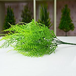 LYCOS3 7 Branches Artificial Asparagus Fern Grass Plant Flower Plastic Home Floral Decor for Home, Hotel, Garden, Cafe, Party and so on 27