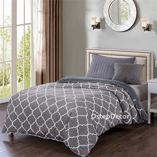 OstepDecor Soft Minky Removable Duvet Cover for Weighted Blanket - 60