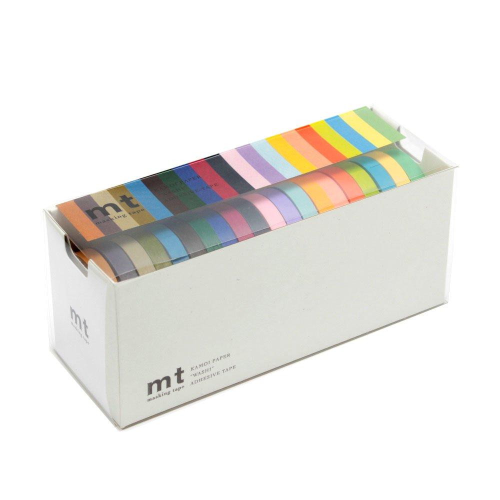 MT - Nastro adesivo decorativo washi, confezione da 20, colori brillanti e vivaci (MT20P002) NaSh-Design