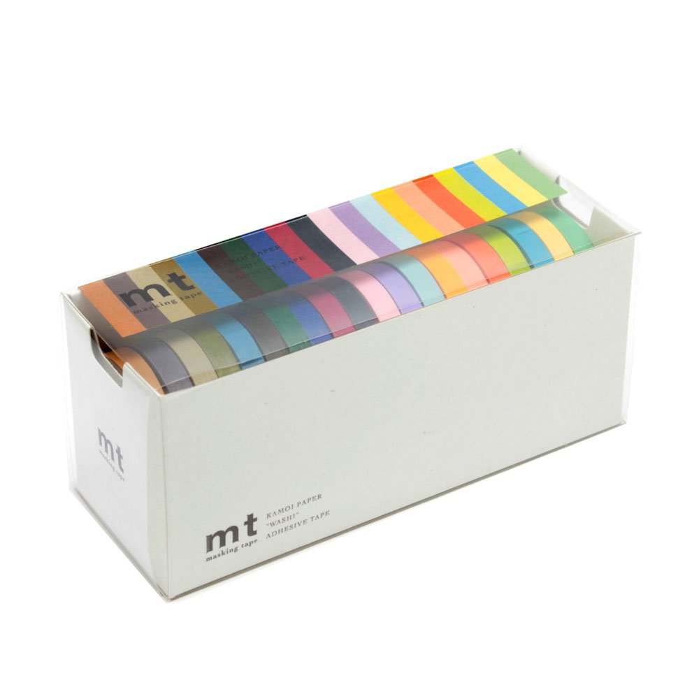 MT Washi Masking Tapes, Set of 20, Bright & Cool Colors (MT20P002)