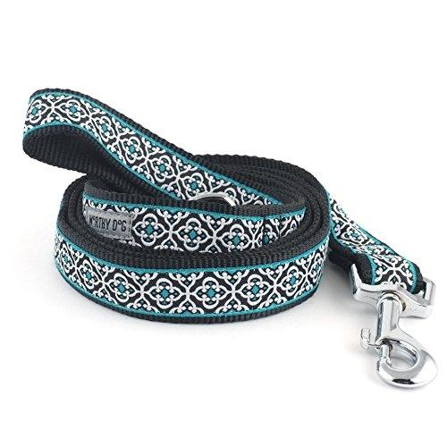 The Worthy Dog   Knightsbridge Teal Lead  Designer Pet Dog Leash , Teal, 1