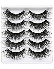 Pawotence 5 Pairs Delicate False Eyelashes Pack