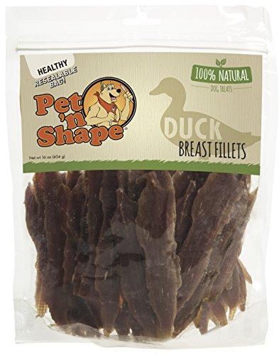 Pet 'n Shape 20116 Duck Breast Fillets 100-Percent Natural Dog Treats, 1 lb (Chicken Pet Tenders Breast Center)