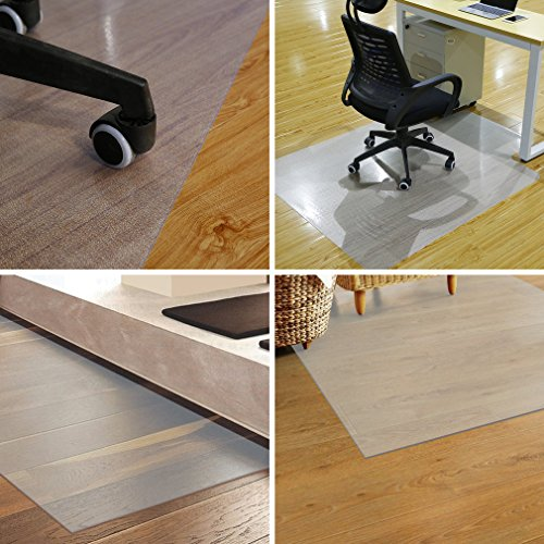 -[ YKS Chair Mat for Carpet Floors, Eco Office Chair PVC Mat for Hard Floor Protection, 117x152cm,