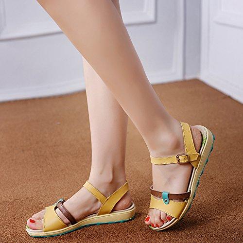 VWU - Sandalias de vestir para mujer amarillo