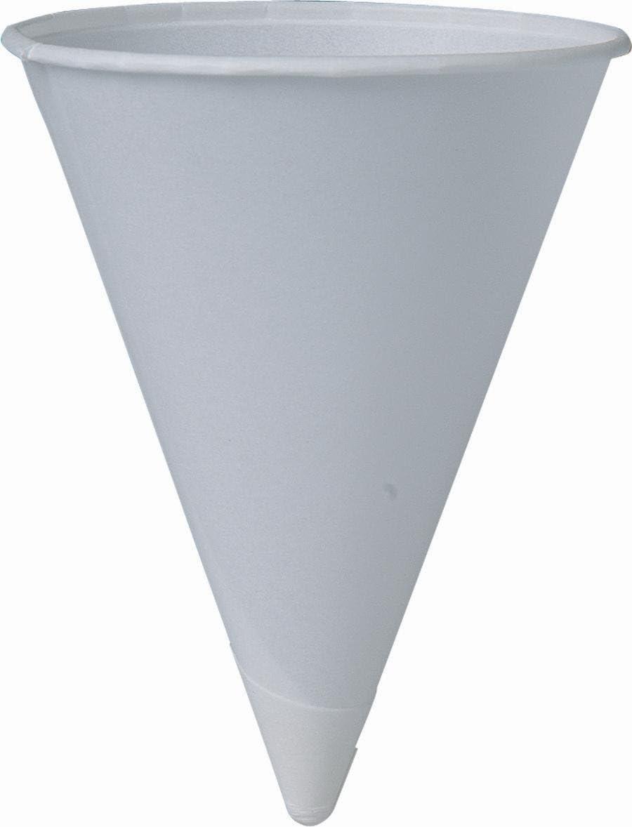 SOLO Cup Company 4BR-2050-1 200 Piece Cone Water Cups, Cold, Paper, 4 oz, White, Gray