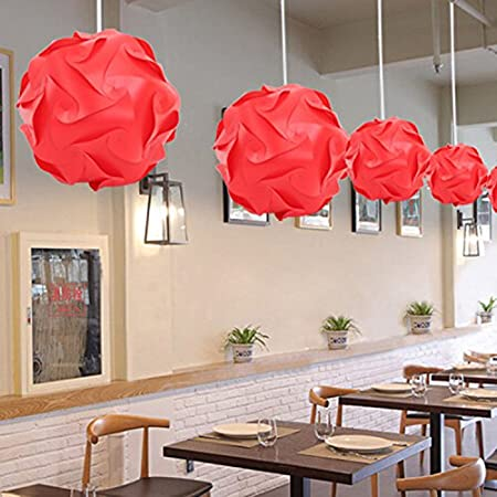 Diy puzzle light shade iq concise pendant light fixtures red ceiling diy puzzle light shade iq concise pendant light fixtures red ceiling ball lamp shade kit assembly mozeypictures Image collections