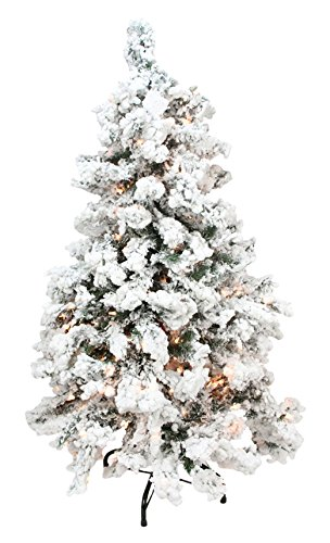 Northlight Pre-Lit Heavily Flocked Pine Medium Artificial Christmas Tree  with Clear Lights, 6.5 - Amazon.com: Northlight Pre-Lit Heavily Flocked Pine Medium