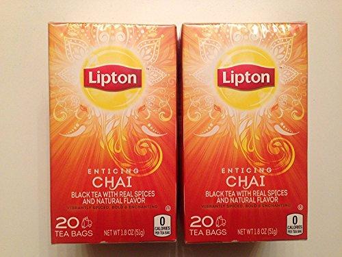 Lipton Enticing Chai Tea 20 ct box(2 Pack)