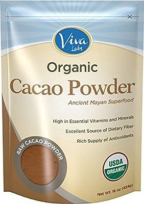 Viva Labs Organic, Non-GMO Cacao Powder