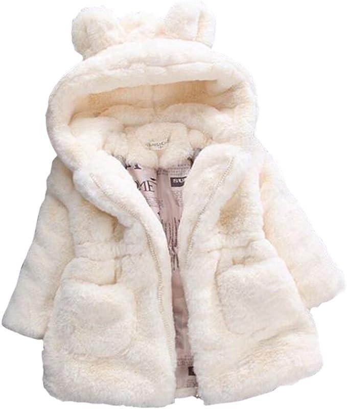 Manteau en fourrure avec petites oreilles