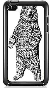 sketch bear Hard Case for Apple iPod touch 4 4G 4TH ( Sugar Skull )