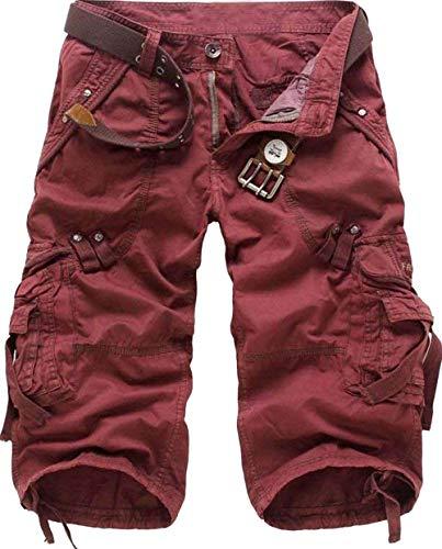 Sports Air Vintage Plein 4 Poches Été Pour 3 De Pourriture Avec Pantalons Short Lâches Cargo Hommes Loisirs Déplacement AqOz8wf
