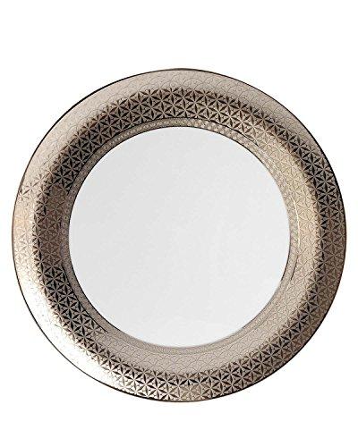 Bernardaud Platter - Bernardaud Divine Round Tart Platter Platinum Embellished Porcelain 13 inches