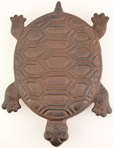 Decorative Cast Iron Turtle Yard & Garden Stepping Stone Rust 12.75″ Long For Sale