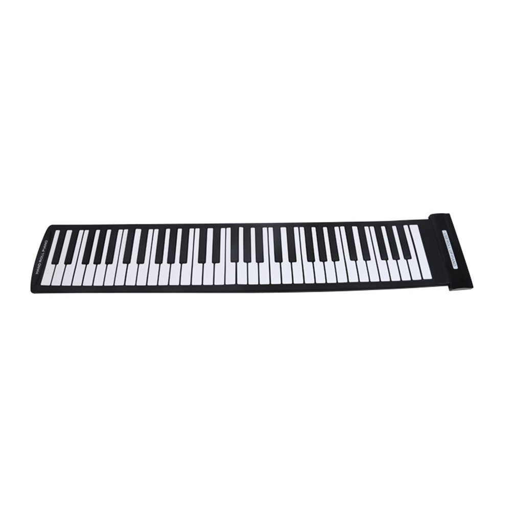 Portable Piano - SODIAL(R)Portable 61 Keys Flexible Roll-Up Piano USB MIDI Electronic Keyboard Hand Roll Piano 071117