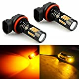 07 acura tl led yellow fog lights - JDM ASTAR 2400 Lumens Extremely Bright PX Chips H11 H8 LED Fog Light Bulbs for DRL or Fog Lights, Amber Yellow