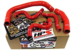 HPS 57-1337-RED Red Silicone Radiator Coolant/Heater Hose Kit