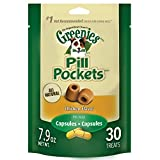 GREENIES PILL POCKETS Soft Dog Treats, Chicken, Capsule,  7.9-oz. 30-count pack