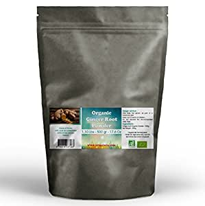 Ginger Root Organic Powder 1.10 Lbs - 500 gr - 16 Oz