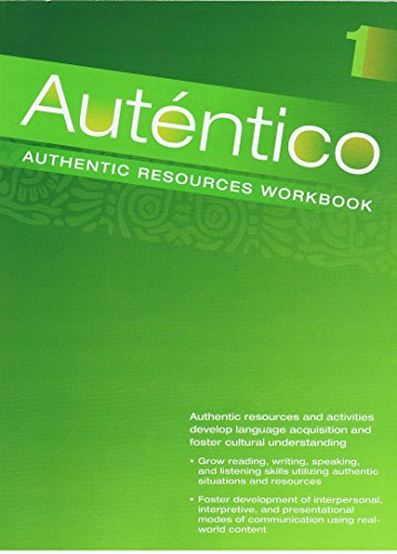 AUTENTICO 2018 AUTHENTIC RESOURCES WORKBOOK LEVEL A/B/1