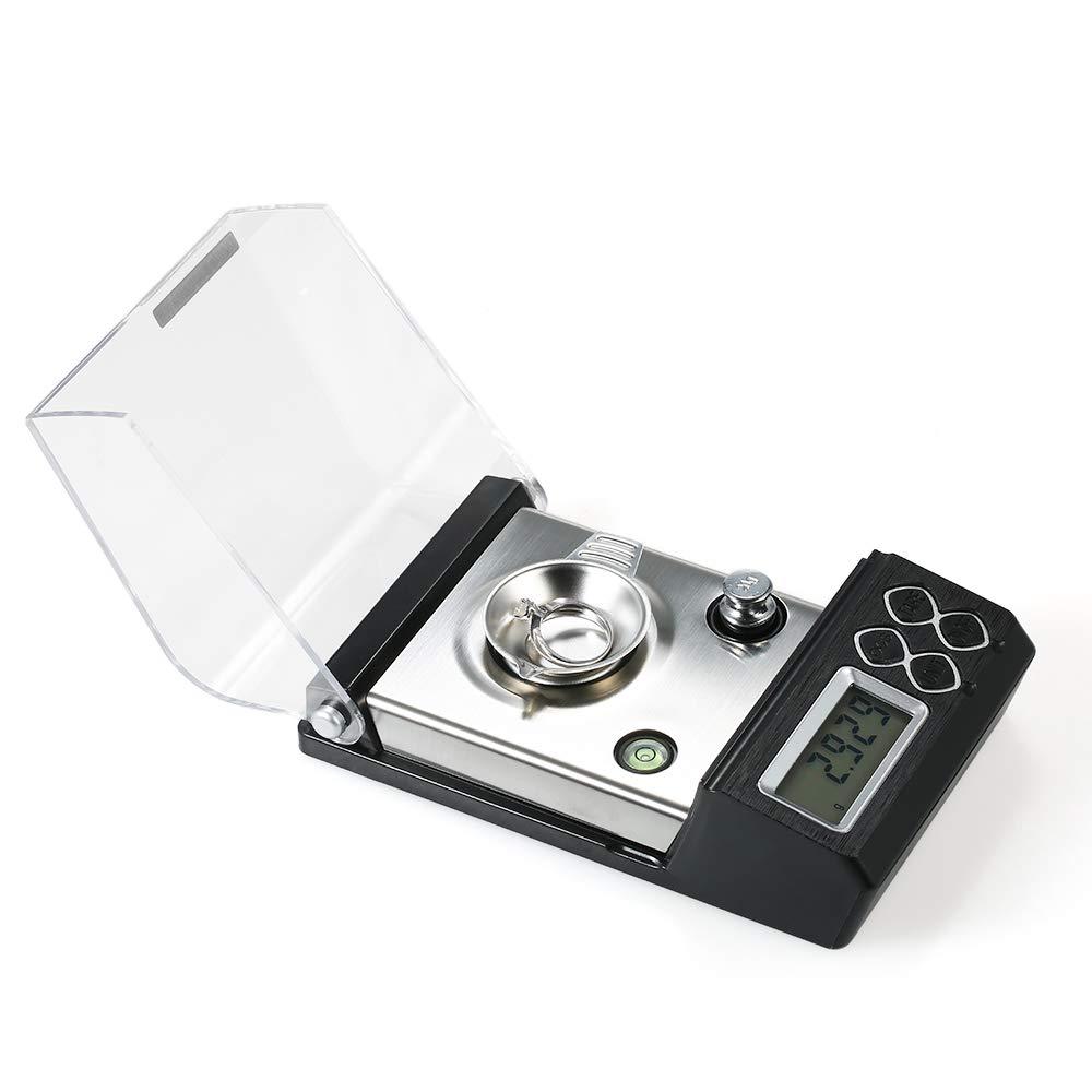B/áscula laboratorio miligramos 0.001g Alta precision digital,Roeam balanza electr/ónica laboratorio profesional joyeria//Dorado//Polvo,Escala milim/étrica