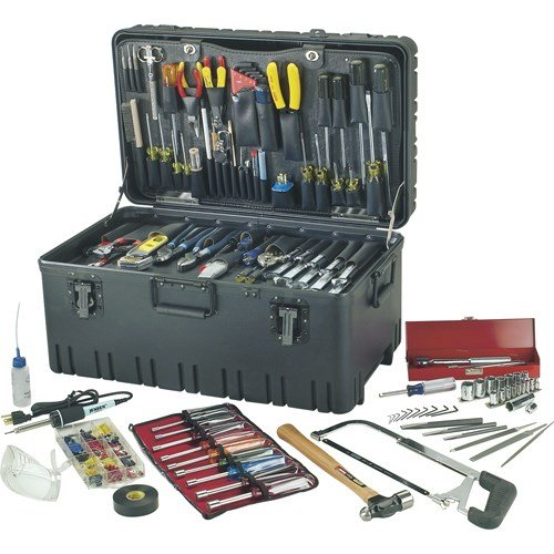 Jensen Tools - JTK-97LW - Kit in Roto-Rugged Wheeled Case, 24-7/8 x 14-1/2 x (Roto Tool Box)