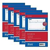 5 x Carbonless Invoice Receipt Record Book 2 Part 50 Sets Duplicate Receipt Copy