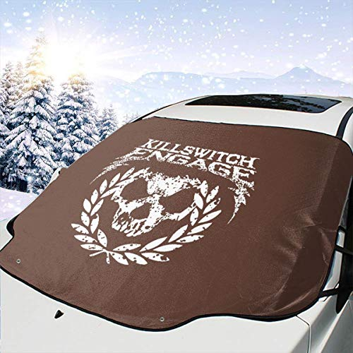 Kill Switch Engage Car Front Windshield Cover 147 * 118cm Coated Waterproof Fabric with A 25 * 15cm Beaded Bag Easy Installation No Installation Tools are Required.