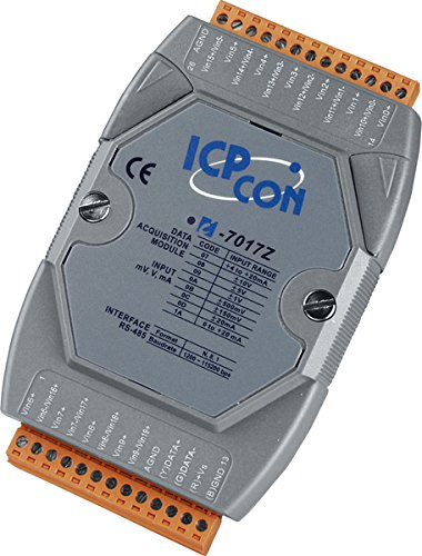 I-7017Z: 10/20 Channel Analog Input Data Acquisition Module with High Voltage Protection