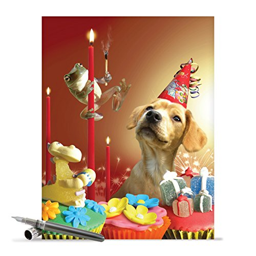 Supersized Happy Bday Notecard With Envelope (8.5