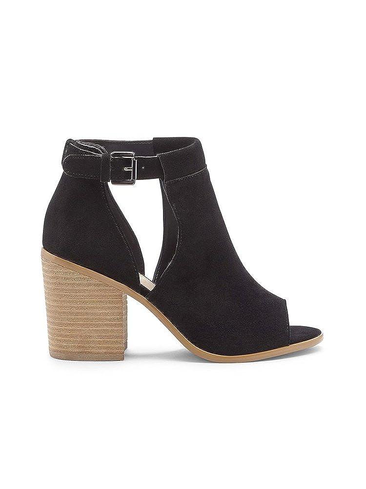 c93be36bb17 Ivrose Women Side Cutout Open Toe Block Buckle Heels Sandals  Amazon.ca   Shoes   Handbags