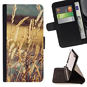 For Apple Iphone 5C CROPS IN THE SUN Leather Foilo Wallet Cover Case with Magnetic Closure