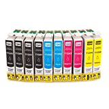 SPEED Compatible Ink Cartridge Replacement for Epson 124 ( Black,Cyan,Magenta,Yellow , 10-Pack )