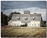 Farmhouse Style Old White Barn Landscape Photograph