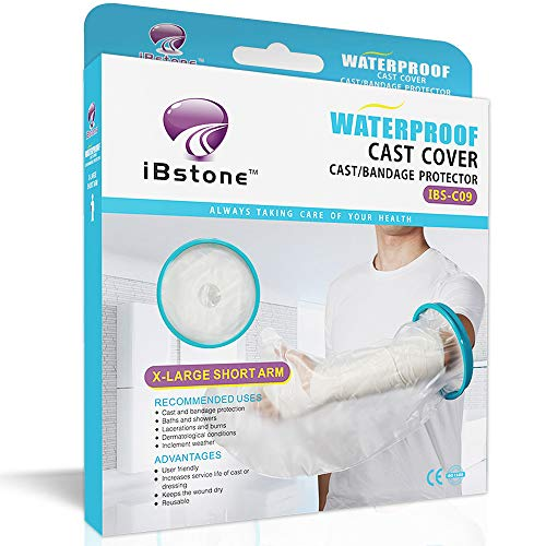 iBstone X-Large Waterproof Arm Cast Cover for Shower, Watertight Bandage Protector, Arm Cast Sleeve Bag Covers for Broken Arm, Hands and Wrists, Reusable Bandage Cover Dressing Protector