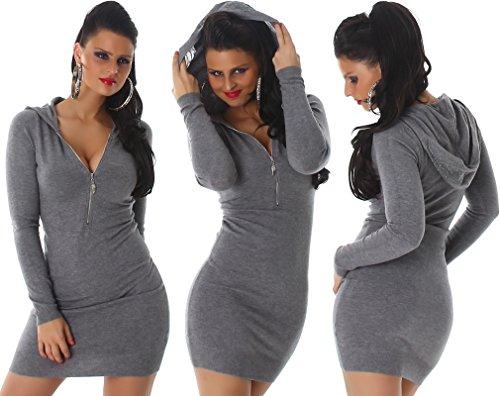 Enzoria - Vestido - Estuche - Básico - para mujer gris