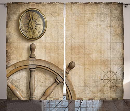 Ambesonne Nautical Curtain