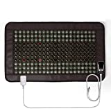 Far Infrared Heating Pad for Back Neck Shoulder Pain Relief, Jade & Tourmaline Therapy (38.5'x22.8') Hot Stone Heating Pad, Adjustable Timer & Temperature, Improve Blood Circulatio, Travel Bag Include