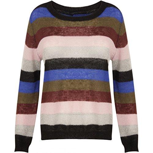 Coster multi Pull Knit Copenhagen Mohair Stripe Stripe W 813 Colour Top Multicolore Femme qxB1qrfwz