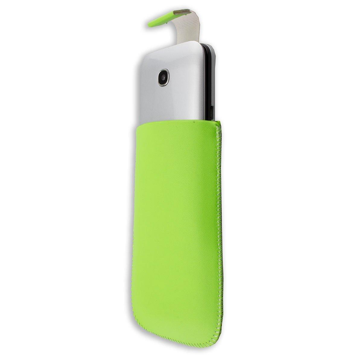 caseroxx Clip da Cintura Custodia per Brondi Amico Semplice Copertura con finestrina Protettiva e Clip Cover in Vera Pelle