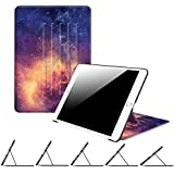 "Fintie iPad 9.7 Inch 2018 2017/iPad Air 2/iPad Air Case - [Multiple Secure Angles] Slim Magnetic Kickstand Protective Cover Auto Sleep/Wake Feature for iPad 9.7"" (6th Gen, 5th Gen), Galaxy"