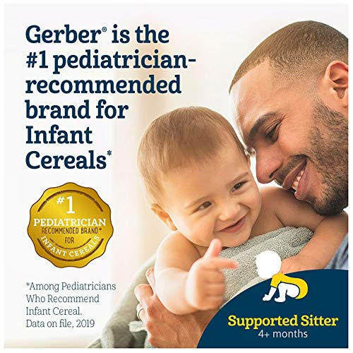 51sIXIUcy5L - Gerber Baby Cereal, 1st Foods, 8 Ounce (Organic Rice)