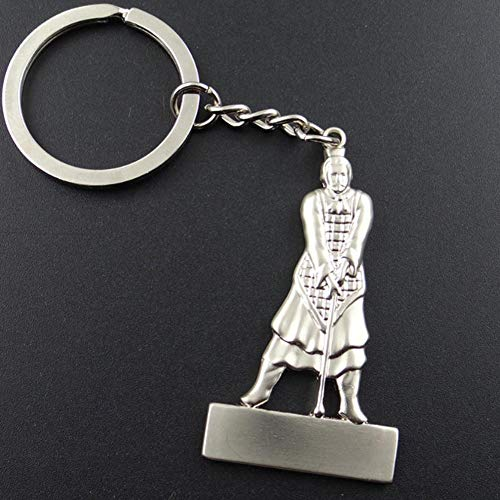 (YUANNIN Cool Car Key Chain Terra-Cotta Warrior Shape Keyring Keychain Purse Bag Pendant)