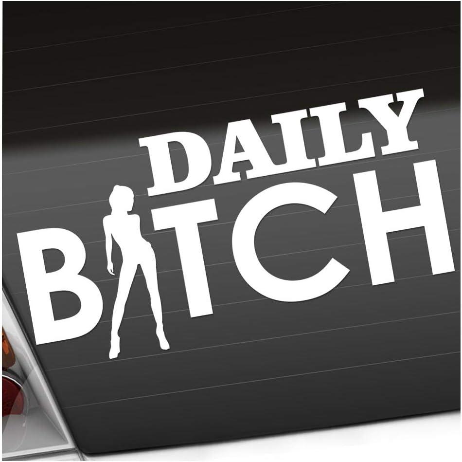Kiwistar Daily Bitch 20 X 10 Cm In 15 Farben Neon Chrom Jdm Sticker Aufkleber Auto